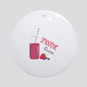 Smoothie Queen Round Ornament