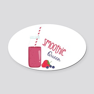 Smoothie Queen Oval Car Magnet
