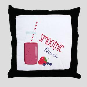 Smoothie Queen Throw Pillow