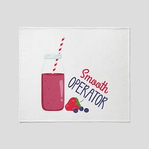 Smooth Operator Throw Blanket