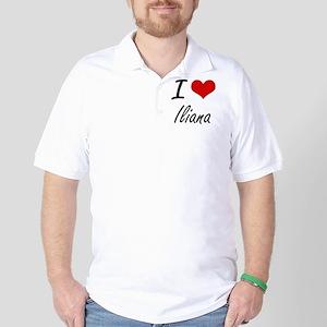 I Love Iliana artistic design Golf Shirt