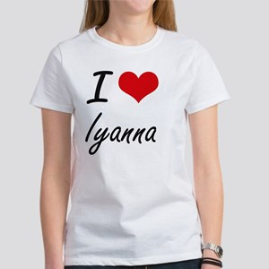I Love Iyanna artistic design T-Shirt