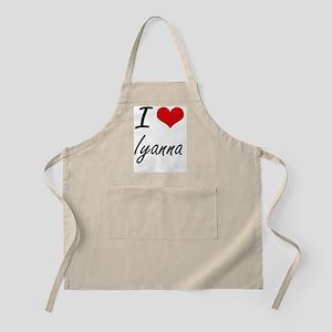 I Love Iyanna artistic design Apron