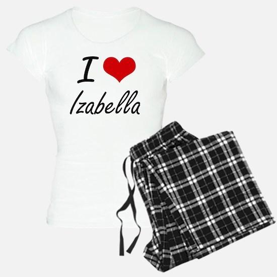 I Love Izabella artistic de pajamas