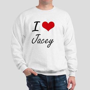 I Love Jacey artistic design Sweatshirt