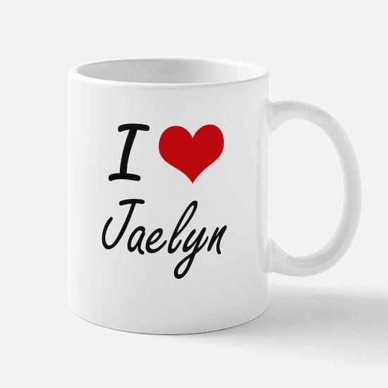 I Love Jaelyn artistic design Mugs