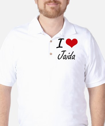 I Love Jaida artistic design Golf Shirt