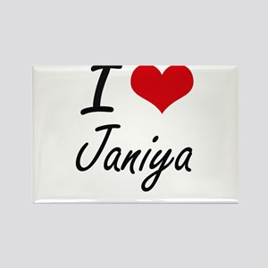 I Love Janiya artistic design Magnets