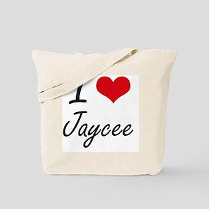 I Love Jaycee artistic design Tote Bag