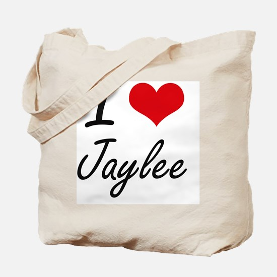 I Love Jaylee artistic design Tote Bag