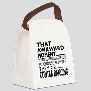 Contra Dancing Dance Awkward Desi Canvas Lunch Bag