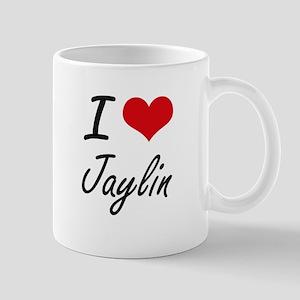 I Love Jaylin artistic design Mugs