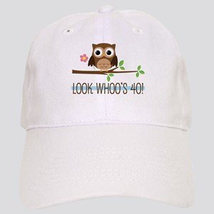 40th Birthday Owl Baseball Cap