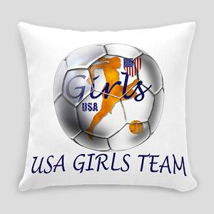 USA Girls Team Everyday Pillow