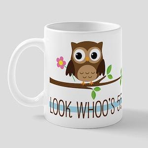 55th Birthday Owl Mug