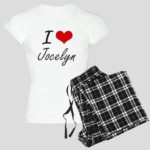 I Love Jocelyn artistic des Women's Light Pajamas