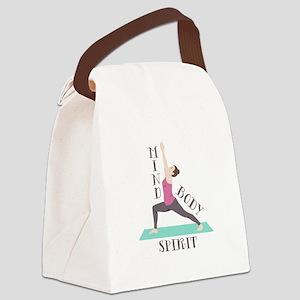 Mind Body Spirit Canvas Lunch Bag