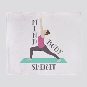 Mind Body Spirit Throw Blanket