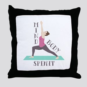 Mind Body Spirit Throw Pillow