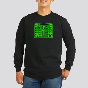 Synthi Green Long Sleeve Dark T-Shirt