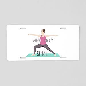 Mind Body Spirit Aluminum License Plate