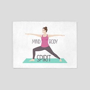 Mind Body Spirit 5'x7'Area Rug