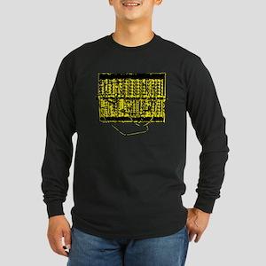 Modular Synth Yellow/Black Long Sleeve Dark T-Shir