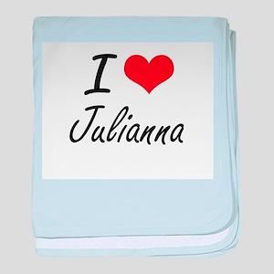 I Love Julianna artistic design baby blanket