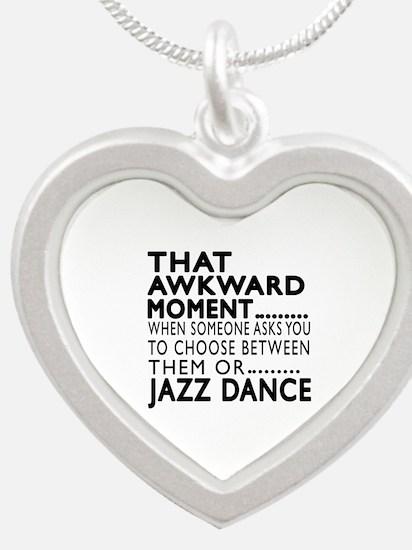 Jazz Dance Awkward Designs Silver Heart Necklace