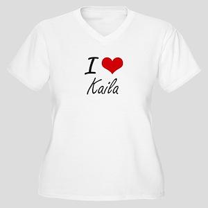 I Love Kaila artistic design Plus Size T-Shirt