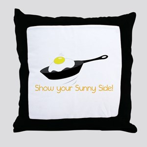 Sunny Side Egg Throw Pillow