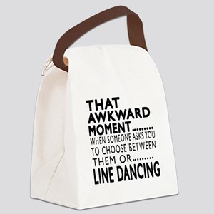 Line dancing Dance Awkward Design Canvas Lunch Bag