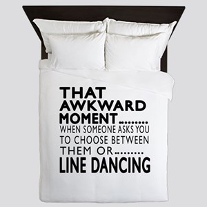 Line dancing Dance Awkward Designs Queen Duvet