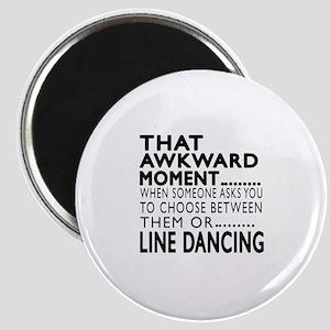 Line dancing Dance Awkward Designs Magnet