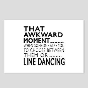 Line dancing Dance Awkwar Postcards (Package of 8)