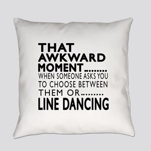 Line dancing Dance Awkward Designs Everyday Pillow