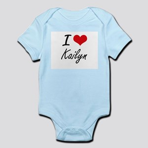 I Love Kailyn artistic design Body Suit