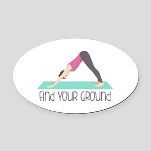 Find Your Ground Oval Car Magnet