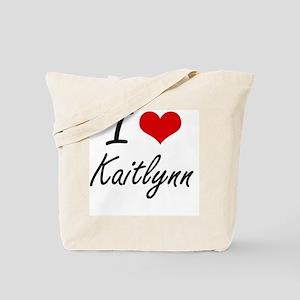 I Love Kaitlynn artistic design Tote Bag