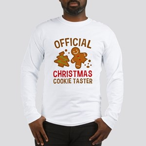 Official Christmas Cookie Taster Long Sleeve T-Shi