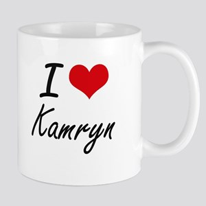 I Love Kamryn artistic design Mugs
