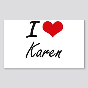 I Love Karen artistic design Sticker
