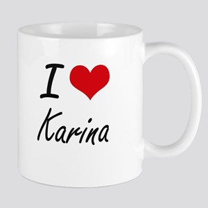 I Love Karina artistic design Mugs