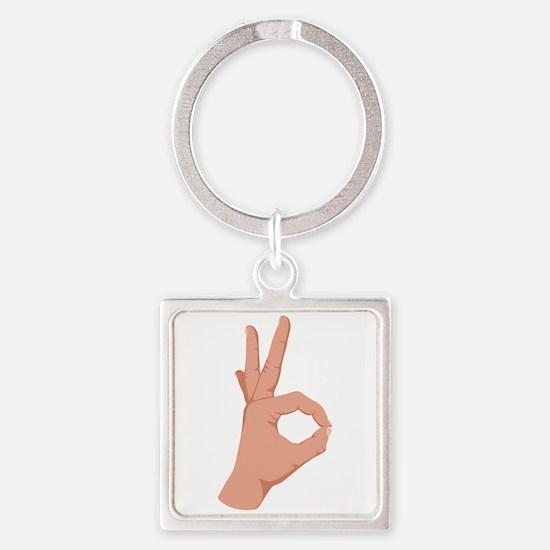 Okay Hand Sign Keychains