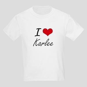 I Love Karlee artistic design T-Shirt