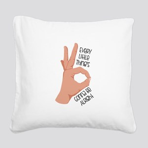 Okay Sign Square Canvas Pillow