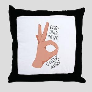 Okay Sign Throw Pillow