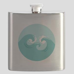 Ocean Waves Flask