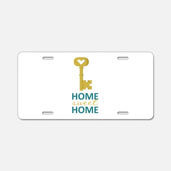 Home Sweet Home Aluminum License Plate