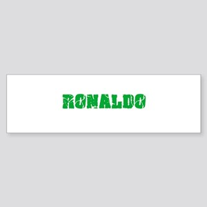Ronaldo Name Weathered Green Design Bumper Sticker